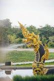 Король Nagas на виске Dhammayan Стоковая Фотография
