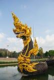 Король Nagas на виске Dhammayan Стоковое фото RF