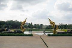 Король Nagas на виске Dhammayan Стоковое Изображение RF