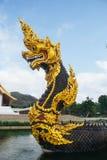 Король Nagas на виске Dhammayan Стоковое Фото