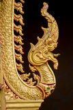 Король Nagas перед виском в Таиланде Стоковые Изображения RF