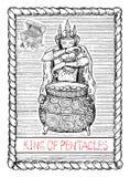 Король pentacles Карточка tarot бесплатная иллюстрация