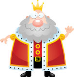 Король Waving шаржа Стоковые Изображения