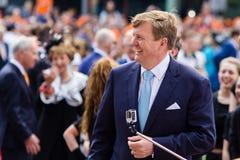 Король Willem-Александр Нидерландов, день 2014 ` s короля, Amstelveen, Нидерланды Стоковое фото RF