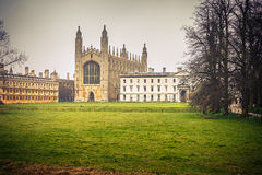 Короля Коллеж Молельня, Кембридж Стоковая Фотография