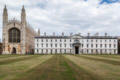 Короля Коллеж Часовня Кембридж Англия Стоковое Изображение