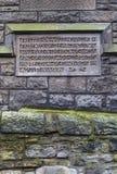 Короля Стена Металлическая пластинка в Эдинбурге Стоковое Фото