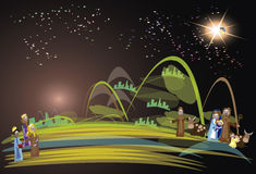 Короля сцены 3 рождества рождества Стоковые Фото