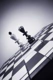 Короля шахмат на кристаллическом pedestale Стоковые Изображения RF