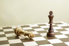 Короля шахмат на доске Стоковые Фото
