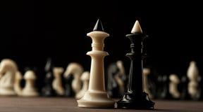 2 короля шахмат Стоковая Фотография RF