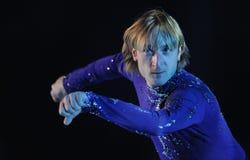 Короля Evgeni Plushenko на льде Стоковая Фотография RF