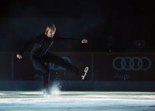 Короля Evgeni Plushenko на льде Стоковая Фотография