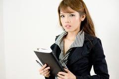 корпоративная девушка серьезная стоковая фотография