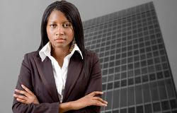 Корпоративная женщина стоковая фотография