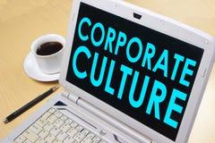 Корпоративная культура, мотивационная концепция цитат слов дела стоковое фото rf