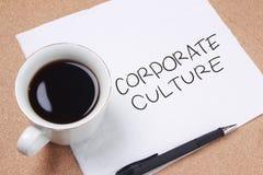 Корпоративная культура, мотивационная концепция цитат слов дела стоковое изображение