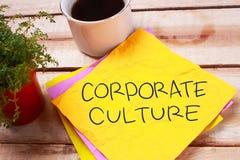 Корпоративная культура, мотивационная концепция цитат слов дела стоковые изображения