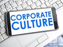 Корпоративная культура, мотивационная концепция цитат слов дела стоковая фотография rf