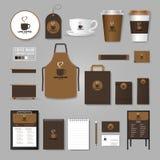 корпоративная тождественность больше моего портфолио устанавливает шаблон Концепция логотипа для кофейни, кафе, иллюстрация вектора