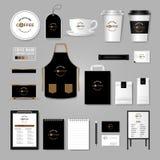корпоративная тождественность больше моего портфолио устанавливает шаблон Концепция логотипа для кофейни, кафе, бесплатная иллюстрация