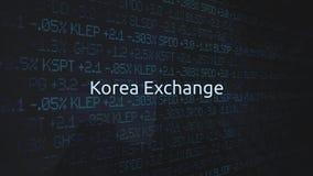 Корпоративная фондовая биржа обменивает оживленную серию - обмен Кореи бесплатная иллюстрация