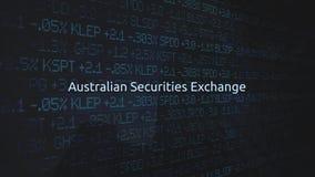 Корпоративная фондовая биржа обменивает оживленную серию - австралийский обмен безопасностями иллюстрация штока