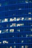 корпоративное здание на ноче Стоковое фото RF
