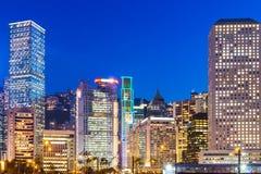 Корпоративное здание в Гонконге Стоковые Изображения RF