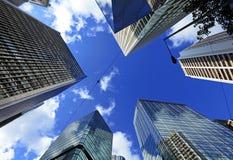 Корпоративное здание от низкого угла Стоковое Изображение