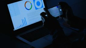 Корпоративное фото похищения коммерческих информаций шпионажа Стоковые Изображения