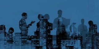 Корпоративной бизнесмены концепции встречи обсуждения соединения иллюстрация штока