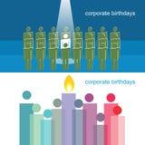 Корпоративные дни рождения Стоковая Фотография RF
