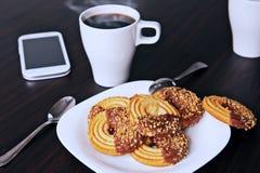 Корпоративный завтрак стоковые фото