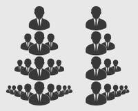 Корпоративный значок команды иллюстрация штока