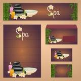 Корпоративный дизайн курорта Дизайн шаблона фирменного стиля старый бумажный сбор винограда Печать на пустым бумаге рециркулирова Стоковые Фото