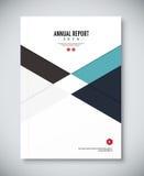 Корпоративный дизайн шаблона годового отчета Корпоративный бизнес Стоковое фото RF