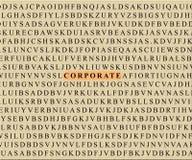 корпоративный кроссворд Стоковая Фотография RF