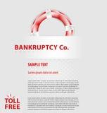 Корпоративный пустой шаблон листовки Стоковое фото RF
