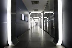 корпоративный футуристический интерьер Стоковое фото RF