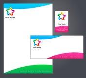 Корпоративный шаблон letterhead -    Стоковое фото RF