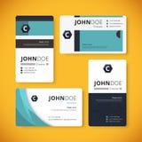 Корпоративный шаблон визитной карточки indentity дизайн шаблона Стоковая Фотография