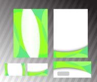 корпоративный экологический зеленый шаблон Стоковое фото RF