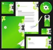 корпоративный editable шаблон тождественности 2 Стоковое Изображение RF