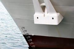 Корпус корабля с водоразделом и проект вычисляют по маcштабу измерение Стоковое Фото