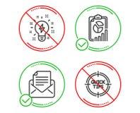 Корреспонденция почты, значки воодушевленности и отчета набор Подсказки подписывают r бесплатная иллюстрация