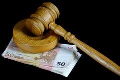 Коррупция в правосудии Стоковое фото RF