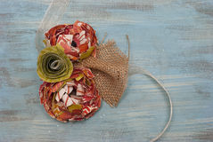 Корсаж бумажного цветка Стоковые Фото