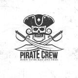 Корсар, логотип пирата иллюстрация вектора