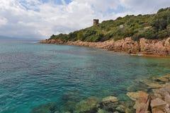 Корсиканский залив Sagone стоковая фотография rf
